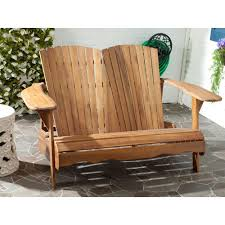wood light brown wood outdoor benches patio chairs the
