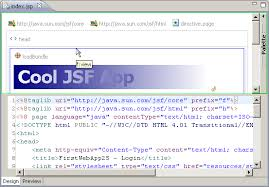 design html page in eclipse web page editor