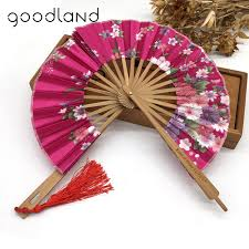 held fans free shipping 30pcs flower floral fabric windmill bamboo