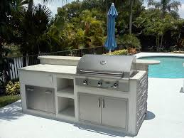 Covered Outdoor Kitchen Designs by Engaging U Shape Covered Outdoor Kitchen Island Featuring Beige
