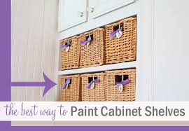 how to paint the inside of cabinets the best way to paint cabinet shelves home decorating