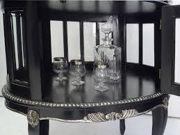 beistelltische antik ebay teeschrank barschrank beistelltisch antik stil schwarz silber