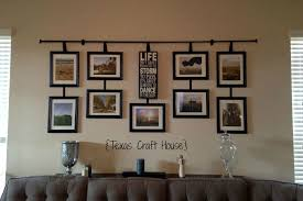 Curtain Rod Ideas Decor Wall Décor Curtain Rod With Hanging Frames Craft House