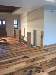 rustic barn beam stairs reclaimed rustic oak barn wood floor