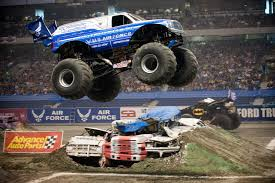 monster truck show in michigan in the strangest of places if you look at it right