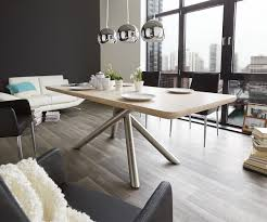 Esszimmertisch 200 X 100 Küchentisch Ylana Eiche Sonoma 200x100 Cm Standbeine Edelstahl