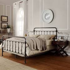 fancy king metal bed frame headboard footboard 92 with additional