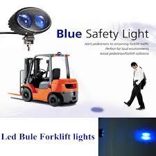 blue warning lights on forklifts 60pcs x safety blue point led work light 10w 10 80v led forlift