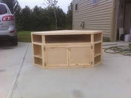 how to build your own diy corner tv stand universal tv stand