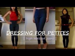 dressing for petites high waisted jeans thoselazymornings