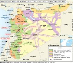 Syria War Map by The Maps Of The September 2015