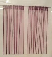 Purple Sheer Curtains Ikea Teresia Purple Sheer Curtains Ebay
