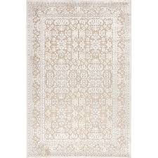Ivory Area Rug Three Posts Harting Machine Woven Tufted Chenille White Ivory