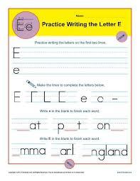 letter e worksheets handwriting worksheet