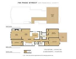 san francisco floor plans floor plans 763 765 page street