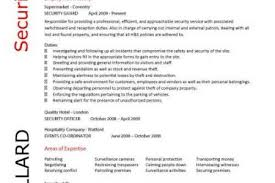 Entry Level Security Guard Resume Sample by Private Security Resume Examples Reentrycorps