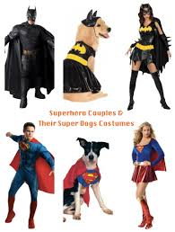 halloween costumes couples superhero couples u0026 their super dogs halloween costumes pet gets