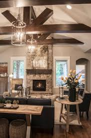 Living Room Ceiling Beams Transitional Living Room With Tag Seagrass Storage Ottomans