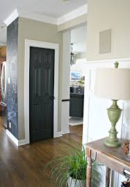 White Walls Grey Trim by The Curse Of The Back Door Black Interior Doors Thrifty Decor