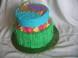 Luau Cake Decorations Piped Dreams Hawaiian Luau Cake