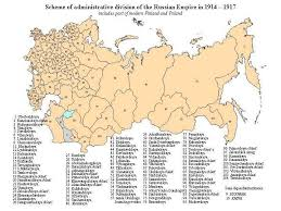 russia map after division russian administrative boundaries