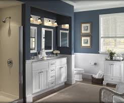 Navy Blue Bathroom Ideas Colors Like The Contrast Between The Bead Board And The Dark Paint Not