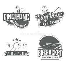 ping pong vs table tennis set of table tennis ping pong labels stock vector illustration