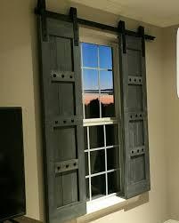 Distressed Barn Door by Interior Window Barn Door Sliding Shutters Barn Door Shutter