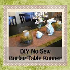 gloriously made diy no sew burlap table runner