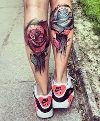 50 amazing calf tattoos rose tattoos tattoo and rose