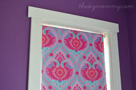 Roll Up Blackout Curtains Make A No Sew Fabric Covered Roller Shade The Diy Mommy
