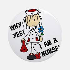 private nurse christmas ornament cafepress