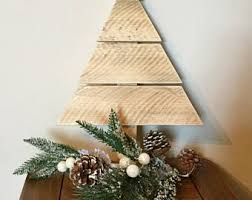 wooden pine tree wall wood tree etsy