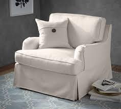 slipcovered chair soma hawthorne arm slipcovered armchair pottery barn