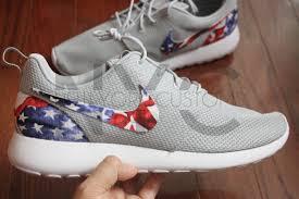 American Flag Shoes American Flag Nike Roshe One Run Grey Custom Men U0026 Women