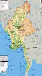 Map Of State by Maps Of Myanmar Burma Detailed Map Of Myanmar In English
