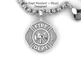 design necklace pendant images Fire department maltese pendant miceli design firefighter jpg