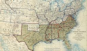 Confederate States Map by Confederate States Flag Civil War Images