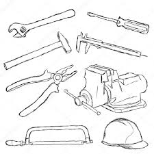 Wrenches Coloring Page Tools Tool Box Pages Free Construction Tools Coloring Page