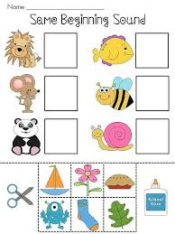 beginning sounds beginning sounds cut and paste and worksheets