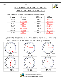 best solutions of 12 to 24 hour time worksheets about download