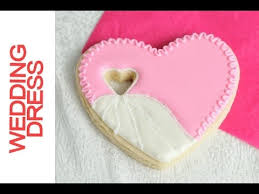 how to make wedding heart dress cookies decorating with royal