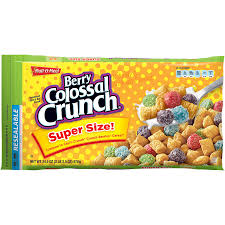 Breakfast Food Cereal Walmart Com by 96 Packs Berry Colossal Crunch Cereal 1 Ounce Bowls Walmart Com