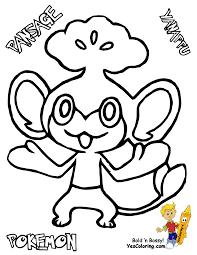 raichu raichu is ready to fight coloring page with pokemon