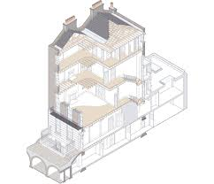 bloomsbury house drawing prewett bizley architects passivhaus