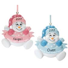 personalized baby u0027s first christmas ornament miles kimball
