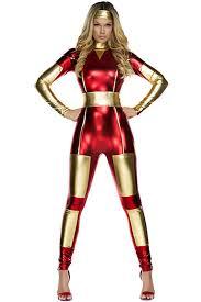 women costume womens metallic iron catsuit costume pink