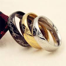 steel finger rings images Movie men 39 s finger rings the one ring titanium stainless steel jpg