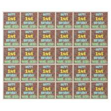 customized wrapping paper brick wall graffiti inspired 1st birthday name wrapping paper