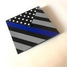 Cop Flag Law Enforcement Police Thin Blue Line Graduation Cap Crafts